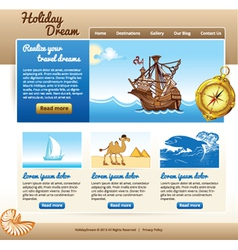 Template for travel website vector