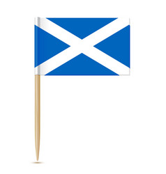 scotland flag toothpick 10eps vector image