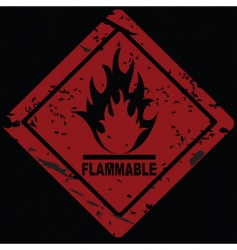 Fire hazard symbol vector