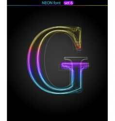neon letter vector image
