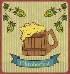 Retro of beer free label beer poster vector image