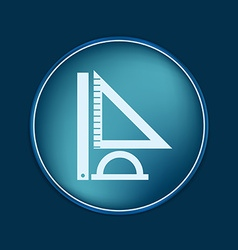 Ruler protractor triangle symbol of geometry and vector