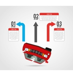 Vehicle infographic vector