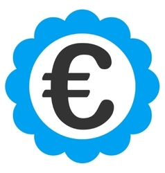 Euro quality stamp icon vector