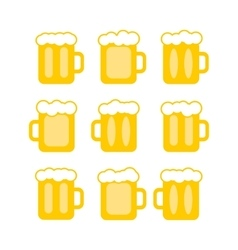 Pint tankards vector
