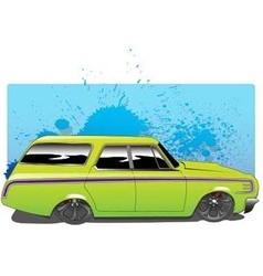 Greenwagon vector