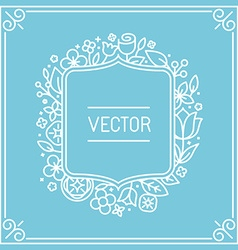 wedding invitation or save the date card design vector image
