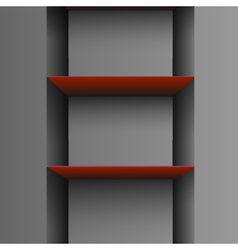 empty shelf vector image