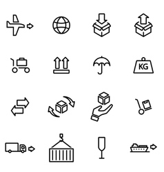 Thin line icons - logistic vector