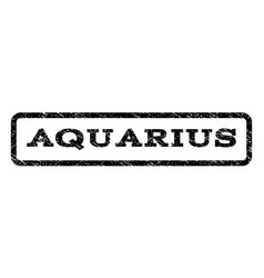 Aquarius watermark stamp vector
