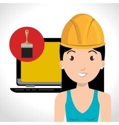 Avatar woman worker vector