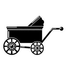 Baby carriage ancient icon simple black style vector