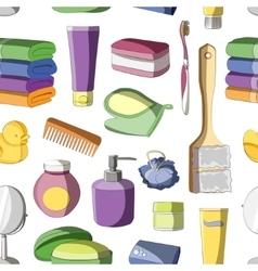 Bath Accessories pattern vector image