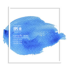Blue watercolor banner vector