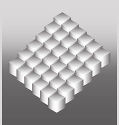 Bright logo of the cubic structure vector