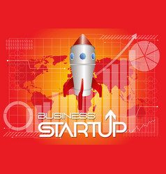 business startup background vector image vector image