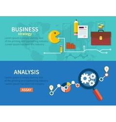 Business Stategy and Analysis vector image