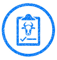 Cattle contract rounded grainy icon vector