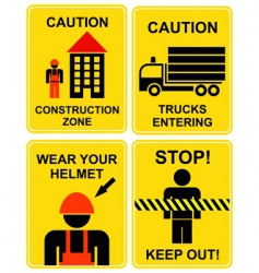 Construction area signs vector