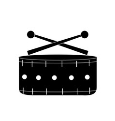 Contour snare drum musical instrument to play vector