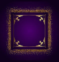 decorative frame background with gold glitter vector image vector image