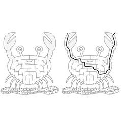 Easy crab maze vector
