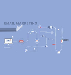 email marketing background vector image