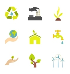 Energy icons set flat style vector image