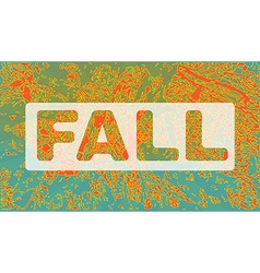 Fall party invitation flyer template vector