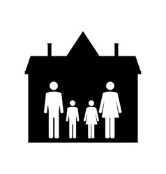 Family in house vector image