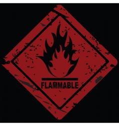 fire hazard symbol vector image