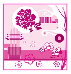 Floral display vector image vector image