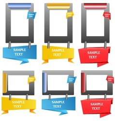 frame and label vector image vector image