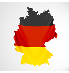 Germany flag in form of map federal republic of vector