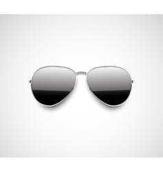 Glossy black aviator sunglasses design vector image vector image
