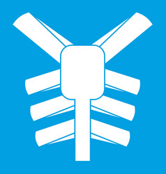 human thorax icon white vector image vector image