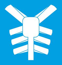 Human thorax icon white vector