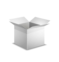 Isolated realistic open white box with shadow vector image vector image