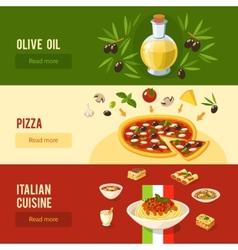 Italian Food Banner Set vector image