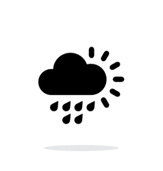 Light rain weather simple icon on white background vector image vector image
