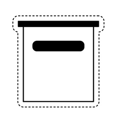 Mailbox postal isolated icon vector