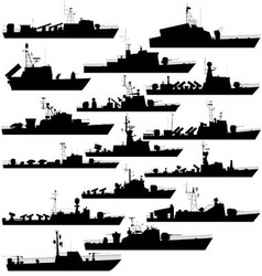 Missile boat vector