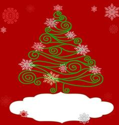 Openwork christmas tree vector