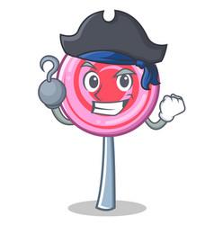 Pirate cute lollipop character cartoon vector