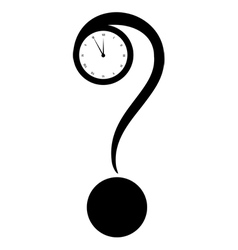 query mark and clock vector image