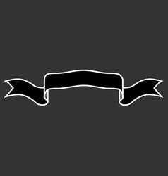 ribbon black sign 1709 vector image vector image