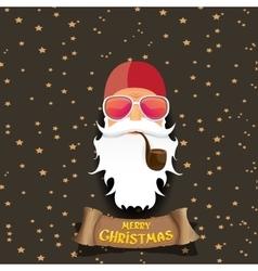 rock n roll santa claus vector image