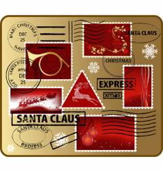 set of christmas mail elements vector image
