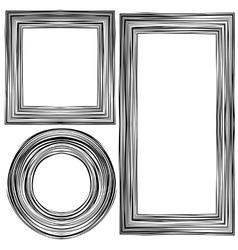 Set of different wooden frames vector