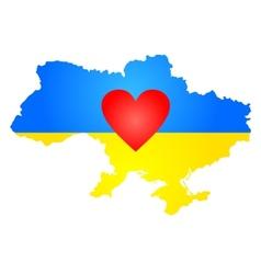 Silhouette of Ukraine vector image vector image